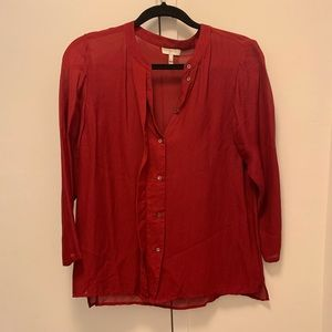 Joie 3/4 Sleeve Blouse- Size S